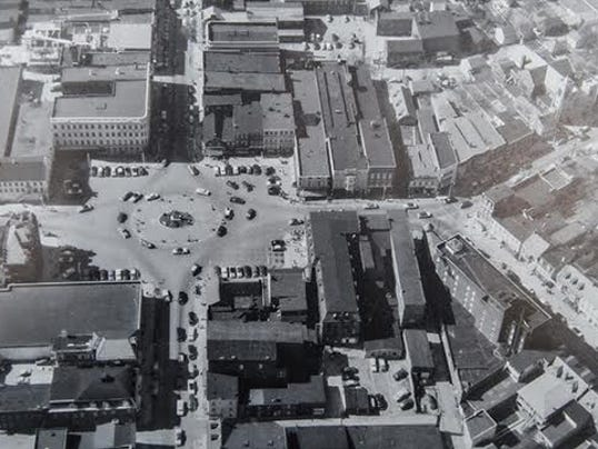 Hanover's Center Square in the 1950s