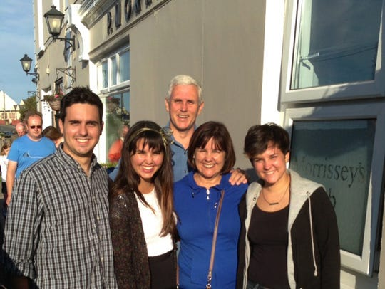 During their 2013 trip, the Pence family visited County