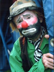 Circus performer Pat Kelly is the son of renowned clown Emmett Kelly. He performs Saturday at the Linden Depot Museum.
