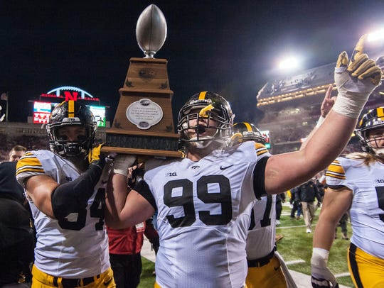 The Heroes Game Trophy is another notch on Iowa's belt.