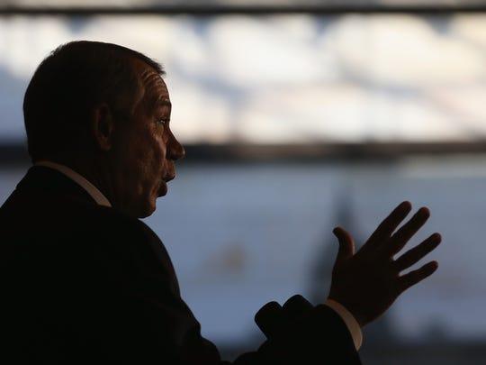 House Speaker John Boehner, R-Ohio, speaks during a
