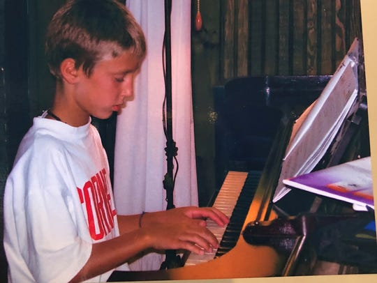Trevor Parry as a young boy practicing.