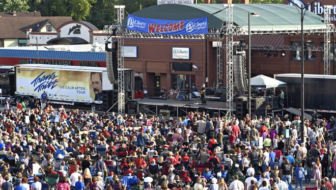 Travis Tritt performs during 2015's Liberty Savings Block Party at Liberty Square in downtown St. Cloud. The festival is moving back to Whitney.