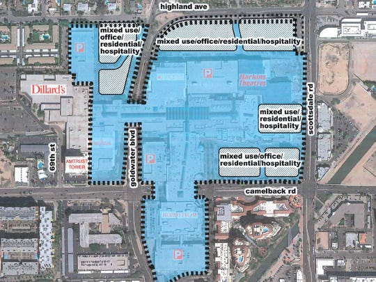 An overhead view of Macerich plans to develop property