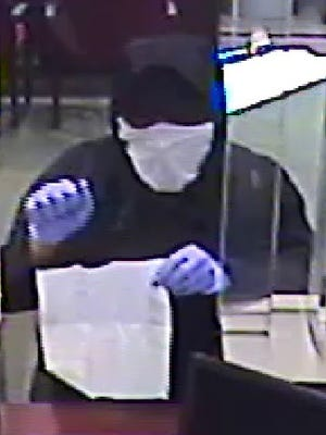 Police are searching for this bank robbery suspect.