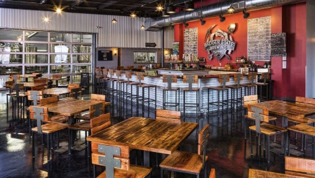 Badger State Brewery's tap room offers enough space for reconnecting with old friends over a brew or a private party.