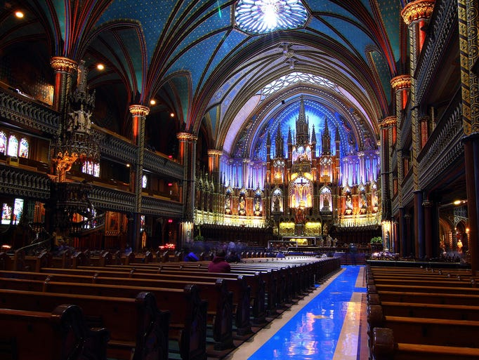 Inspired by Sainte-Chapelle in Paris, the                                                          Notre-Dame                                                          Basilica o