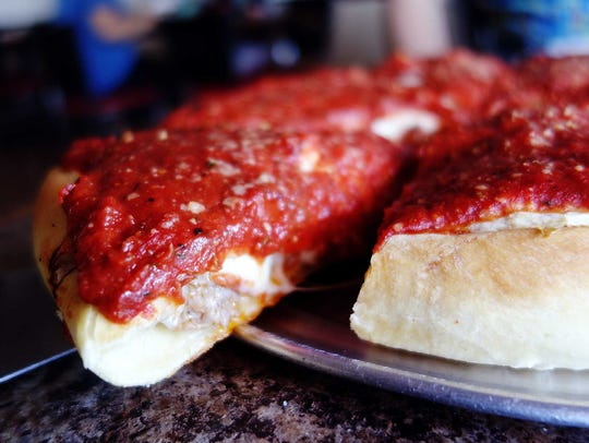 Chicago stuffed pizza at Little Sicily
