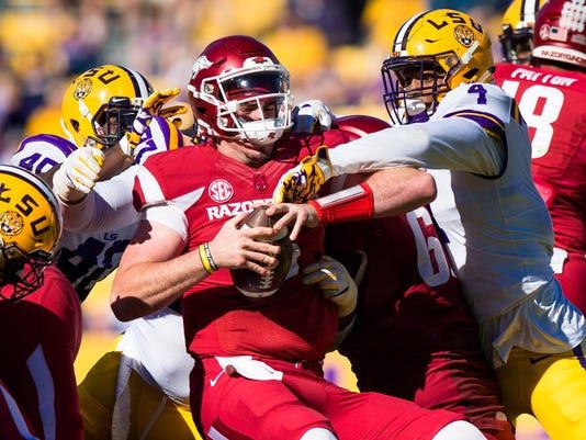 NCAA Football: Arkansas at Louisiana State