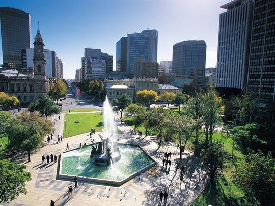 Victoria Square in Adelaide, Australia