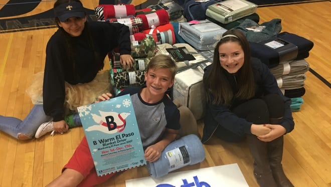 Coronado High School held a pep rally for the Braden Aboud B Warm Blanket Drive on Thursday, Oct. 27. The drive collects around 1,000 blacks each year and is now one of the largest blanket drives in El Paso. This year's drive runs from Nov. 1 through Dec. 17.