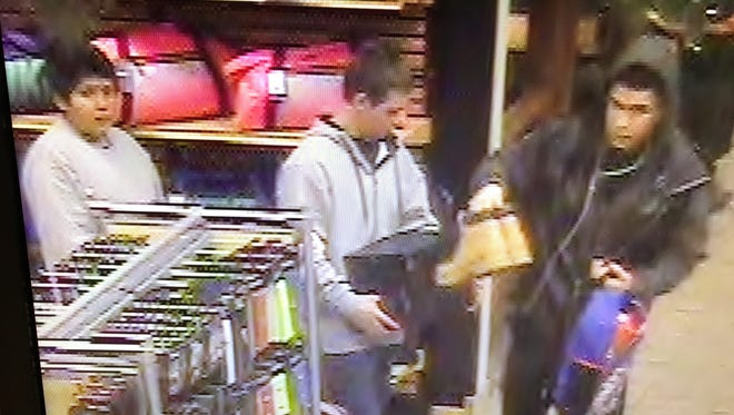 Sparks police are searching for three suspects believed to be related to a robbery at Scheel's.