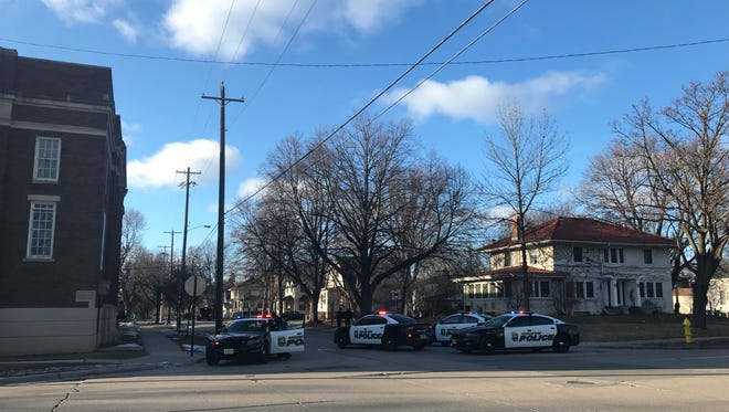 Police blocked of Howard Avenue between Ashland and Oakland avenues as they searched for a suspect Monday afternoon.
