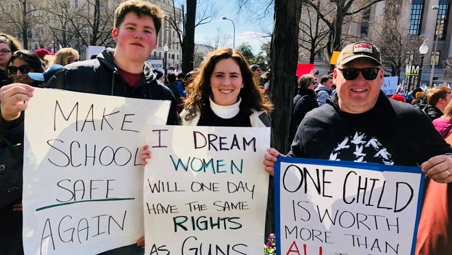 Cameron Forgey, left, attended the March For Our Lives rally in Washington D.C.