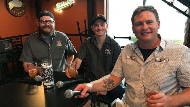 Taproom Live guests from our July 25 show were (left to right) Andy Piontek from Stone Arch Brewpub, Ben Fogle from Appleton Beer Factory and Alex Wenzel from Lion's Tail Brewing.