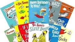 Books by Dr. Seuss.