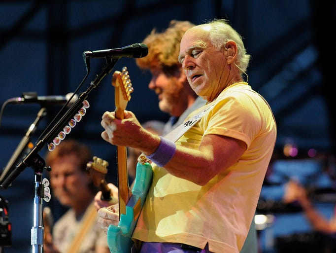 Jimmy Buffett and his Coral Reefer Band perform  for