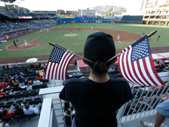 The El Paso Chihuahuas celebrated Flag Day at the ballpark in June 2017.