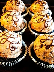 'Car Bomb' cupcakes, reminiscent of an Irish Car Bomb
