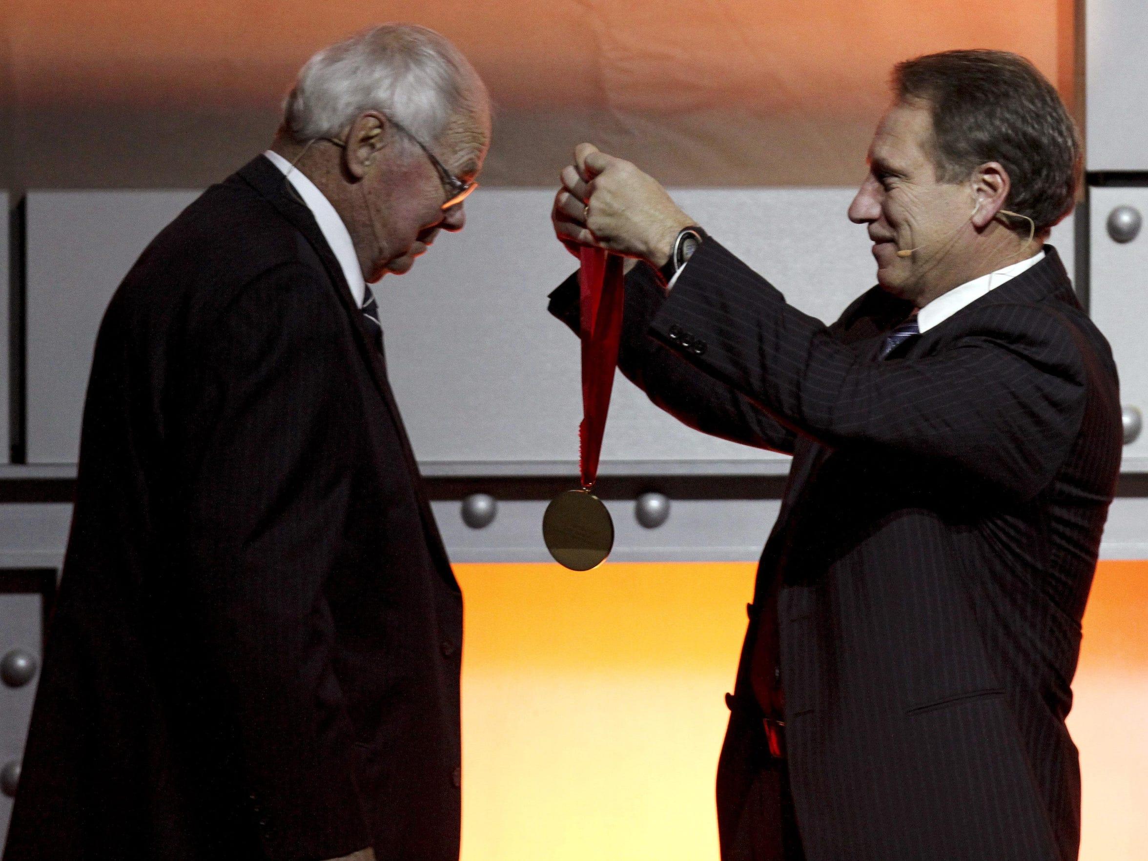 Former Michigan State basketball coach Jud Heathcote,