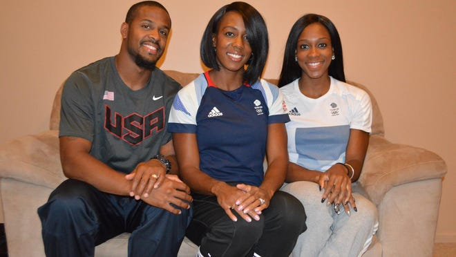 Jeff Porter, his wife, Tiffany, and her sister, Cindy Ofili.