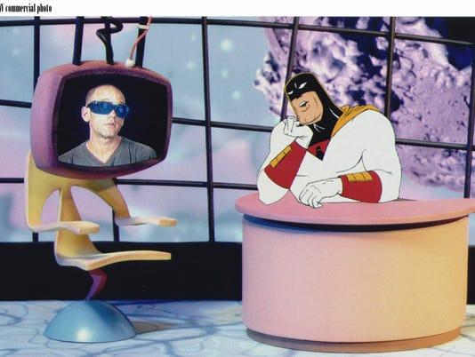 Superhero hosts talk show