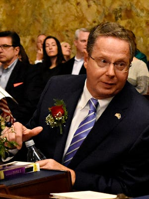 Rep. Stan Saylor during the swearing-in ceremony at the Capitol in Harrisburg, Tuesday, Jan. 3, 2017. Dawn J. Sagert photo