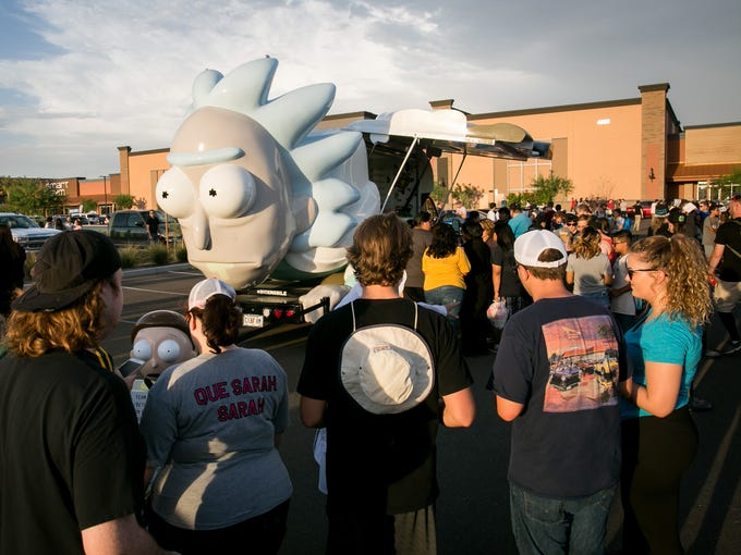 "The crowd approaches for Rick and Morty ""Don't Even"