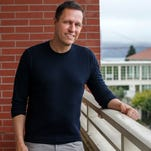 """Peter Thiel's new book is """"Zero to One: Notes on Startups, Or How to Build the Future"""" (Crown Business)."""