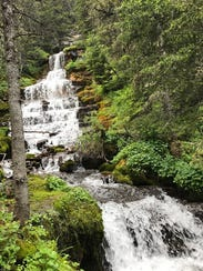 The Crystal Cascades trail takes hikers to a waterfall