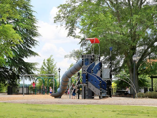 Legacy park features an enclosed toddler area and a