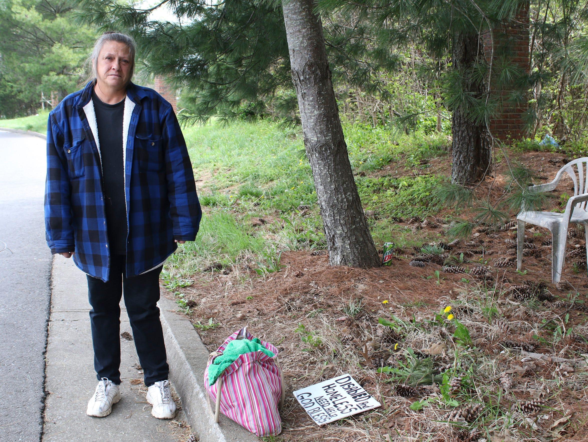 Donna McAllister has been homeless since August 2014
