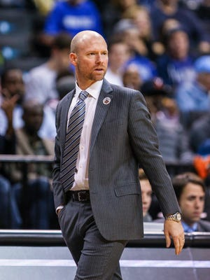 Seton Hall Pirates head coach Kevin Willard looks on during the first half against the Vanderbilt Commodores at Barclays Center in Brooklyn, New York, on Nov. 24, 2017.