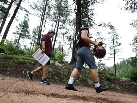 Arizona State running back Nick Ralston and head coach
