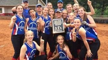The Madison Middle School softball team.