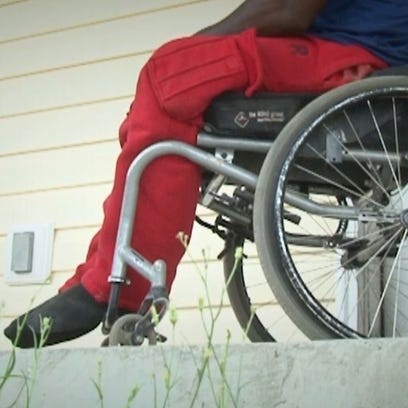 A handicapped man and his family are without their