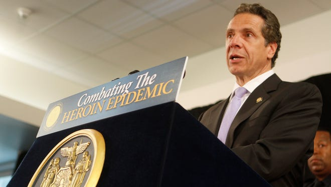 New York State Gov. Andrew Cuomo spoke at Rockland Community College on the rise of the of Heroin abuse and law enforcement response on June 11, 2014.