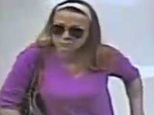 A surveillance camera captured this image of a woman
