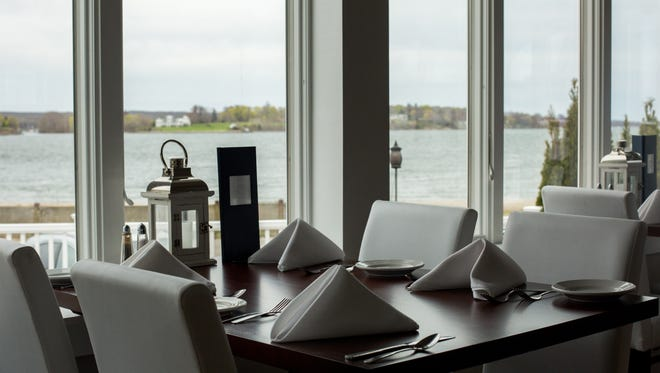 In Portsmouth, R.I., 15 Point Road offers views of Sakonnet River from the dining room.