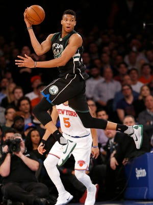 Giannis Antetokounmpo ranked third overall among Eastern Conference players in the initial fan voting results released by the league on Thursday.