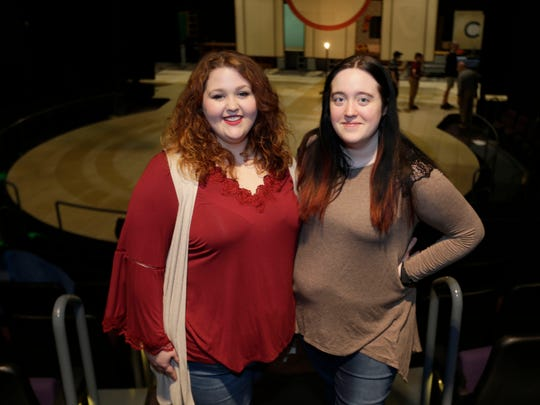 UWM theater students Maureen O'Hara (left) and Brooke Olson stand in the refurbished theater.