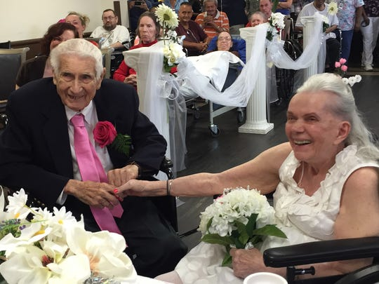 Karl and Elizabeth Gfatter celebrated 75 years of marriage on Monday at the River Valley Care Center in Poughkeepsie.