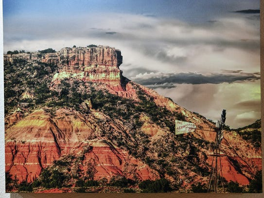 """""""Painted Mesa"""" is a photograph by Jim Livingston, a"""