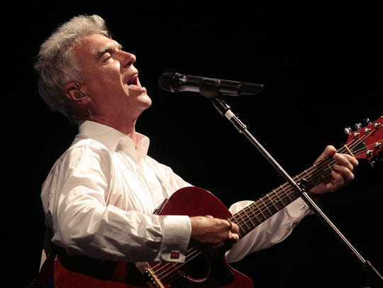 David Byrne performs during the Bonnaroo Arts and Music