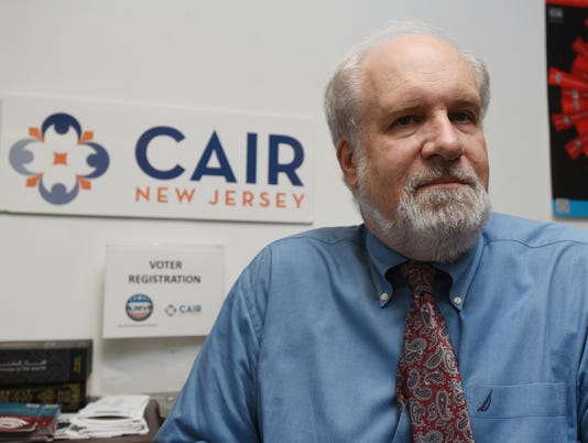 Jim Sues is the Executive Director of the New Jersey Chapter of the Council on American-Islamic Relations. Here he is in his South Plainfield office where he wa interviewed.