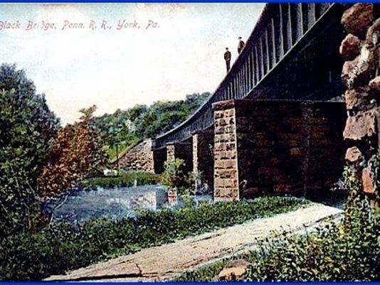Black Bridge, Penn. R. R., York, Pa. (Postcard from S. H. Smith Collections)