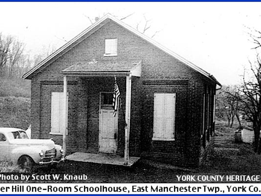 River Hill One-Room Schoolhouse, East Manchester Township, York County, PA (1941 Photo by Scott W. Knaub from the Collections of the York County Heritage Trust)