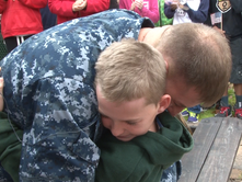 This sailor reunion has everyone crying, even Navy dad