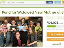 A screenshot of the GoFundMe site set up for the Rogan family after Michael Rogan's death on Friday.