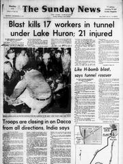 The front page of The Detroit News on Dec. 12, 1971 had the first published reports about the accident.